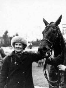 Monika Dickinson with the top-class chaser Wayward Lad