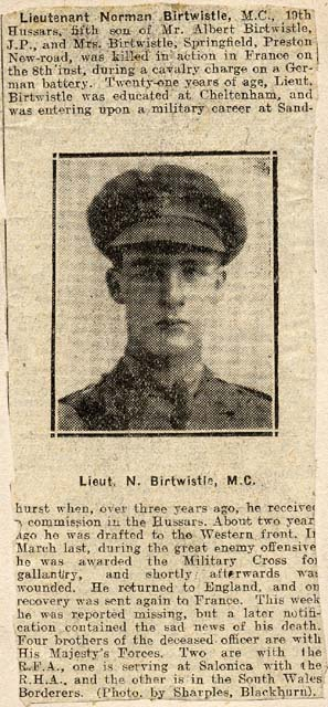 Great Uncle Norman Birtwistle